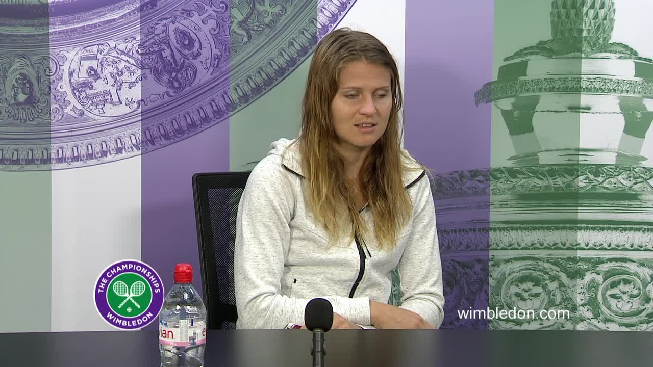 Lucie Safarova fourth round press conference