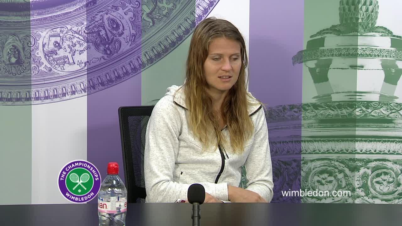 Lucie Safarova fourth round press conference