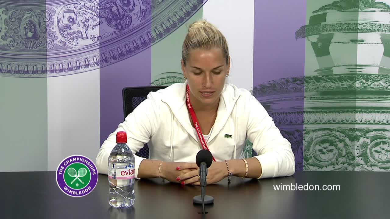 Dominika Cibulkova fourth round press conference