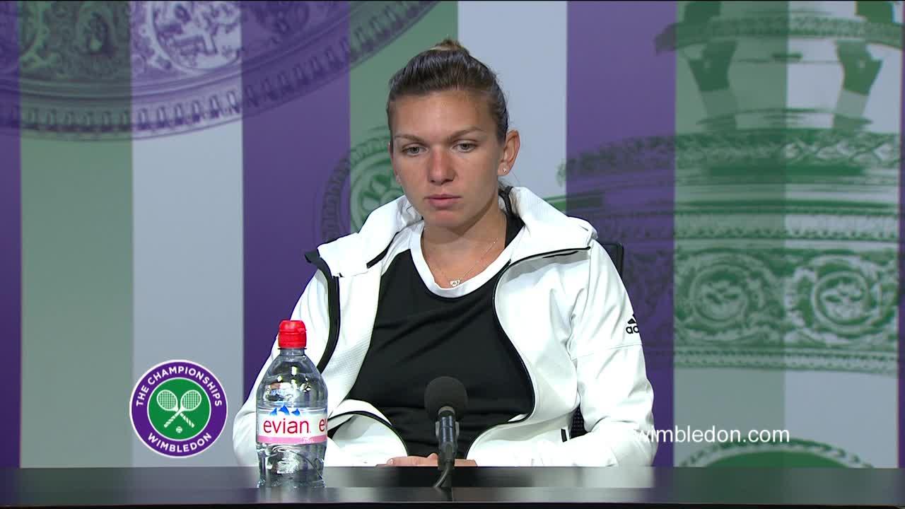 Simona Halep fourth round press conference