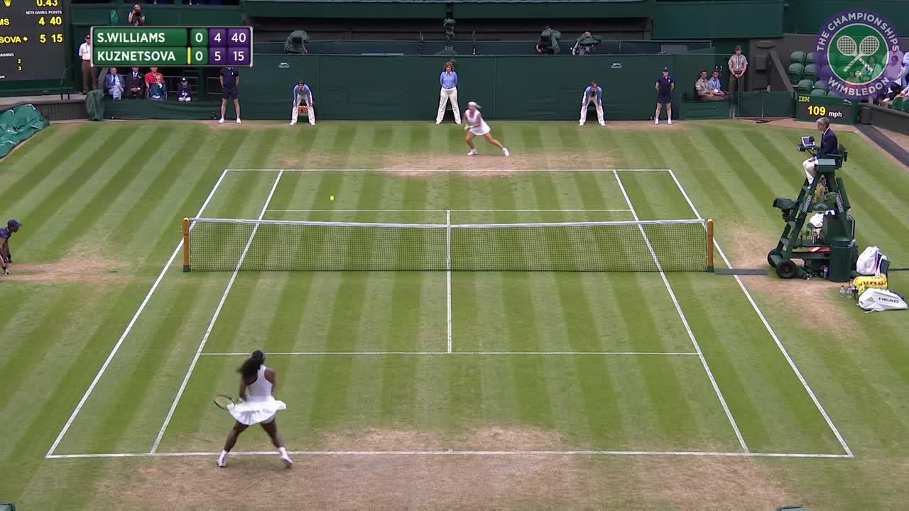 2016, Day 7 Highlights, Serena Williams vs Svetlana Kuznetsova