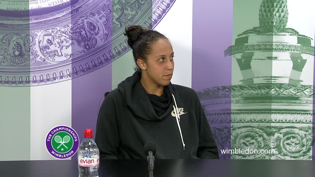 Madison Keys fourth round press conference