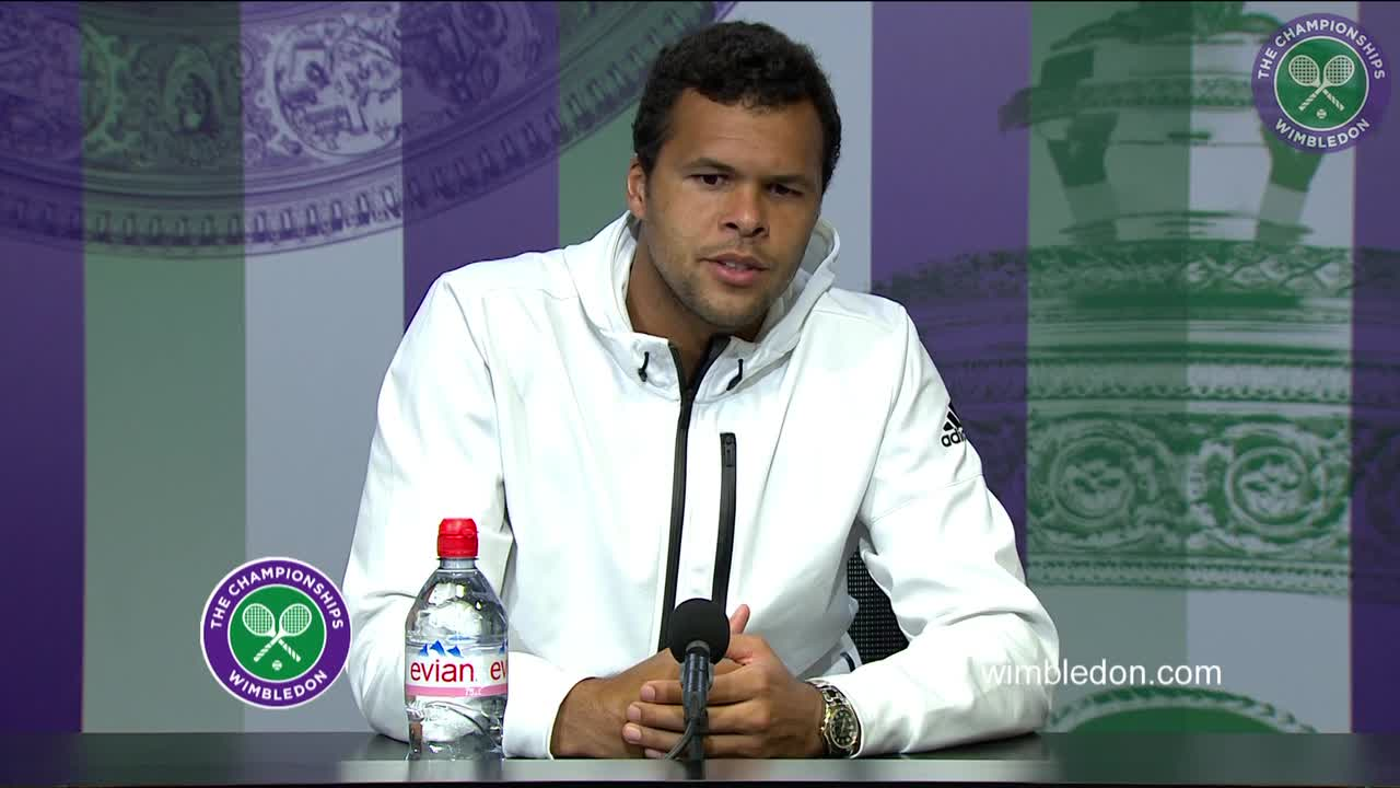 Jo-Wilfried Tsonga fourth round press conference