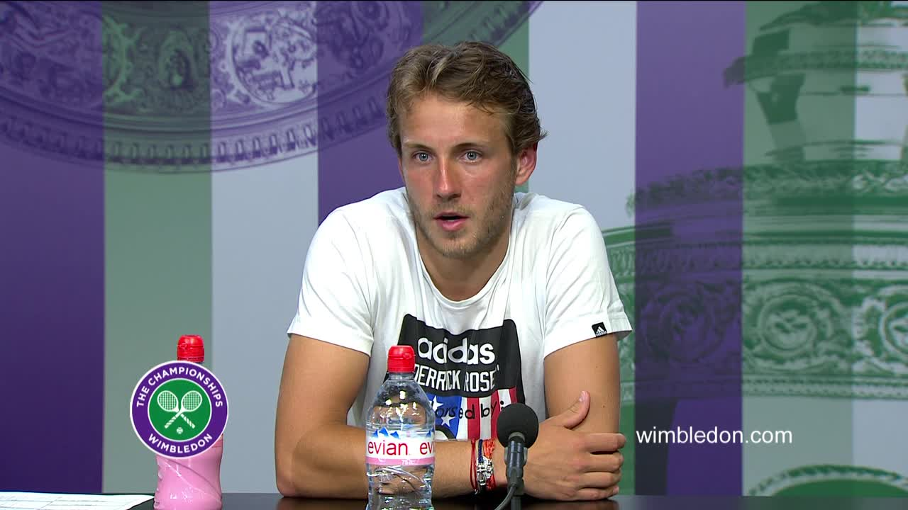 Lucas Pouille fourth round press conference