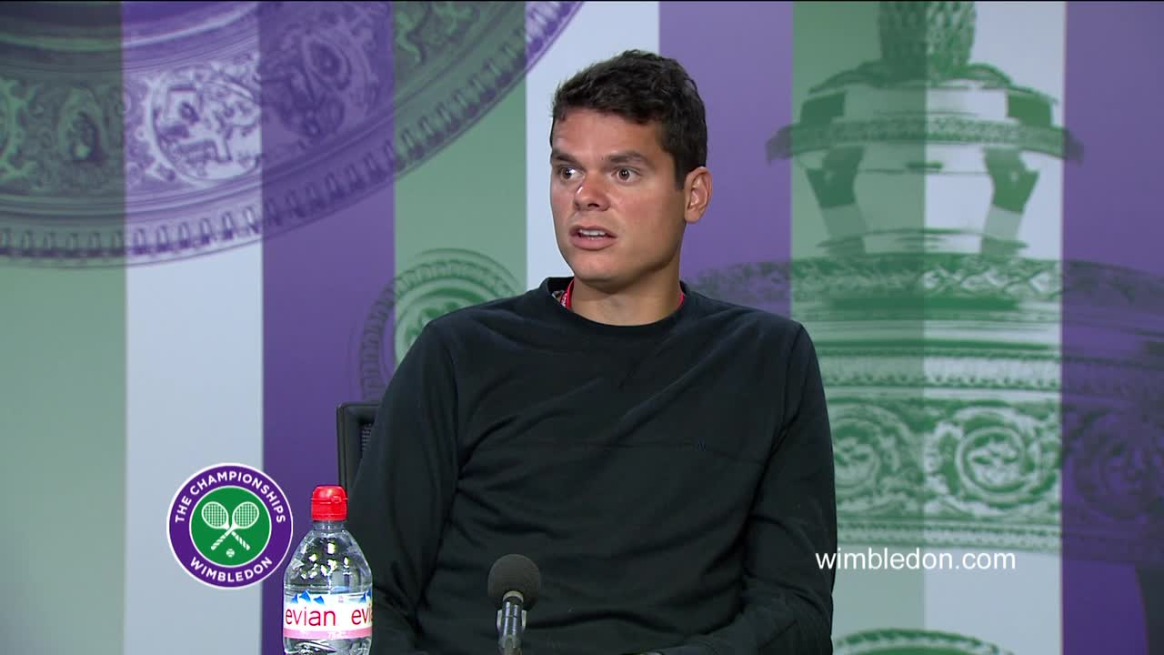Milos Raonic fourth round press conference