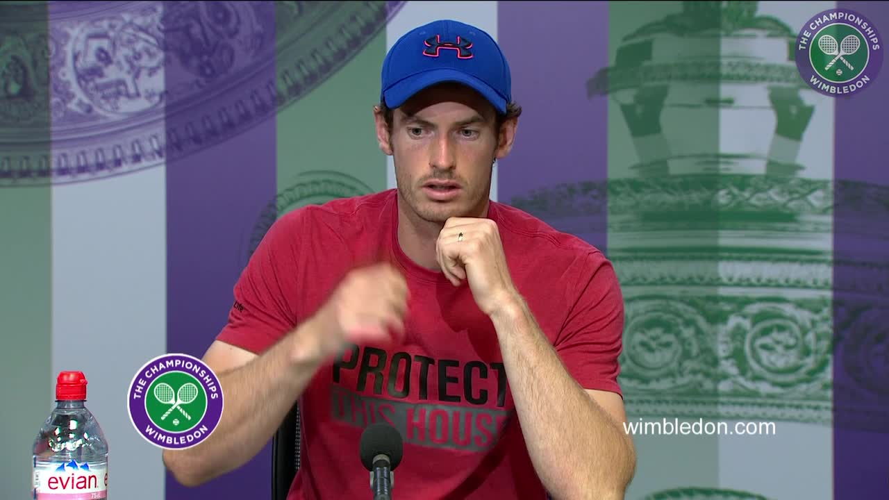 Andy Murray fourth round press conference