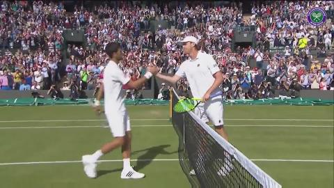 Querrey celebrates shock win over Djokovic