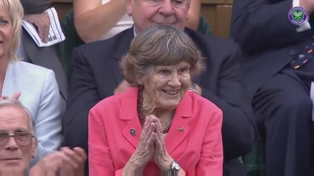 WWII hero Joy Lofthouse receives Centre Court ovation