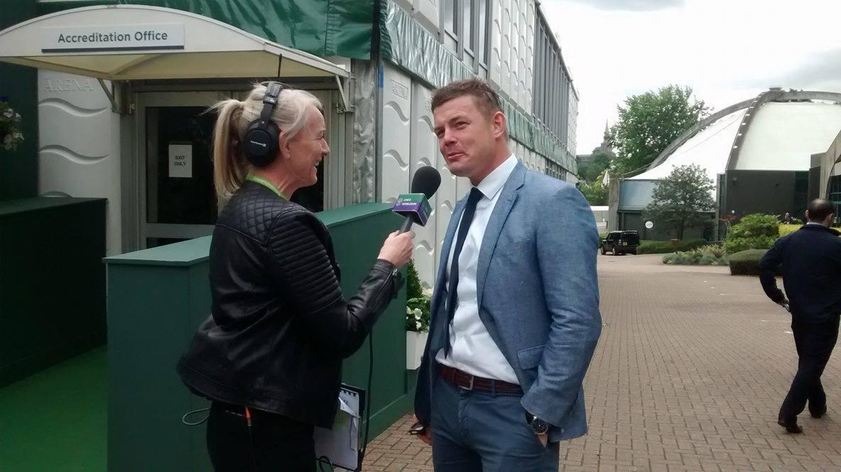 Sonja McLaughlan speaks to Irish rugby star Brian O'Driscoll
