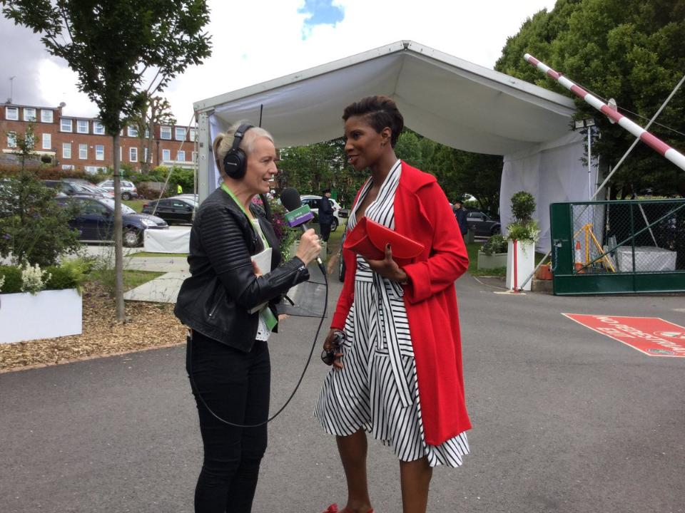 Sonja McLaughlan speaks to Olympic heptathlete Denise Lewis