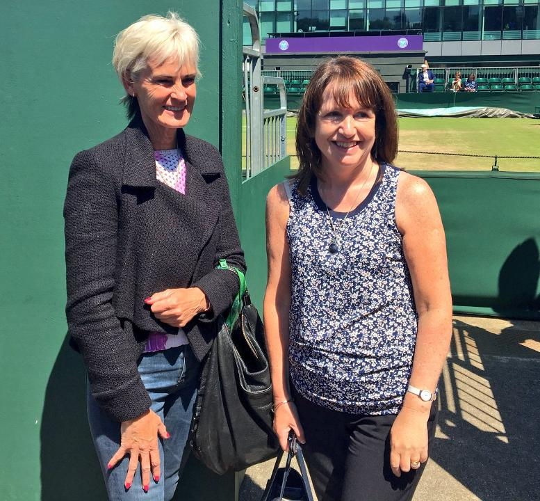 Faye Curruthers speaks to Judy Murray