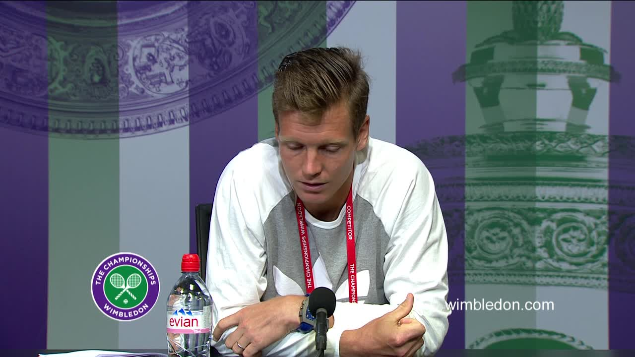 Tomas Berdych fourth round press conference