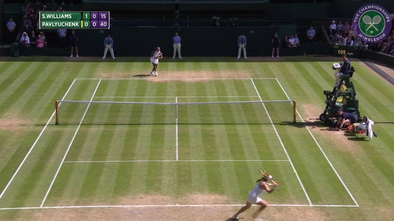 2016, Day 8 Highlights, Serena Williams vs Anastasia Pavlyuchenkova