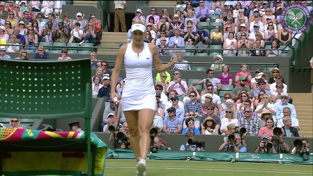 2016, Day 8 Highlights, Dominika Cibulkova vs Elena Vesnina