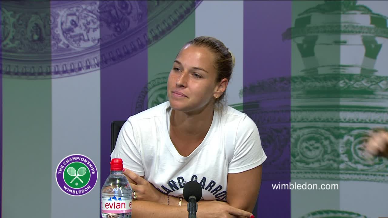 Dominika Cibulkova quarter-final press conference