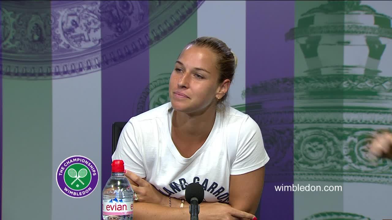 Dominika Cibulkova quarter-final press conference
