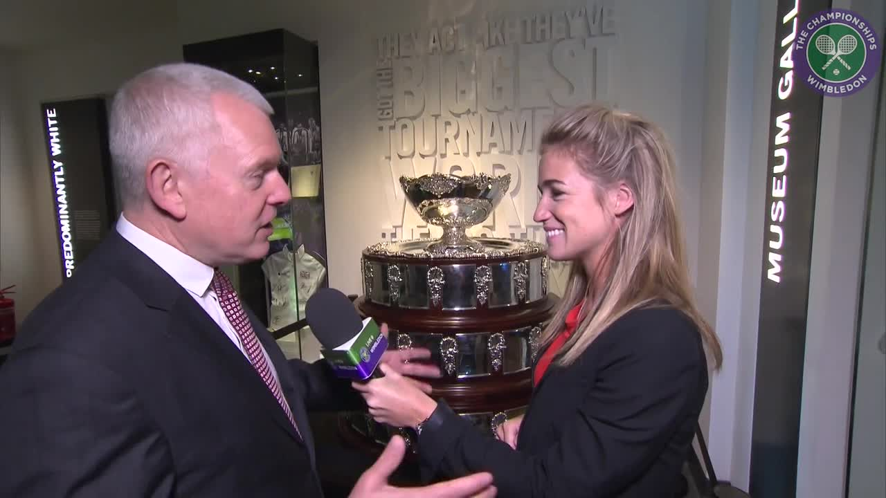 Wimbledon Museum exhibits Davis Cup trophy for one day only