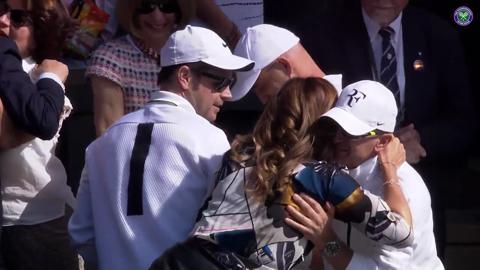 Federer celebrates memorable comeback win over Cilic