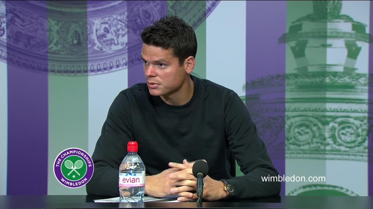 Milos Raonic quarter-final press conference