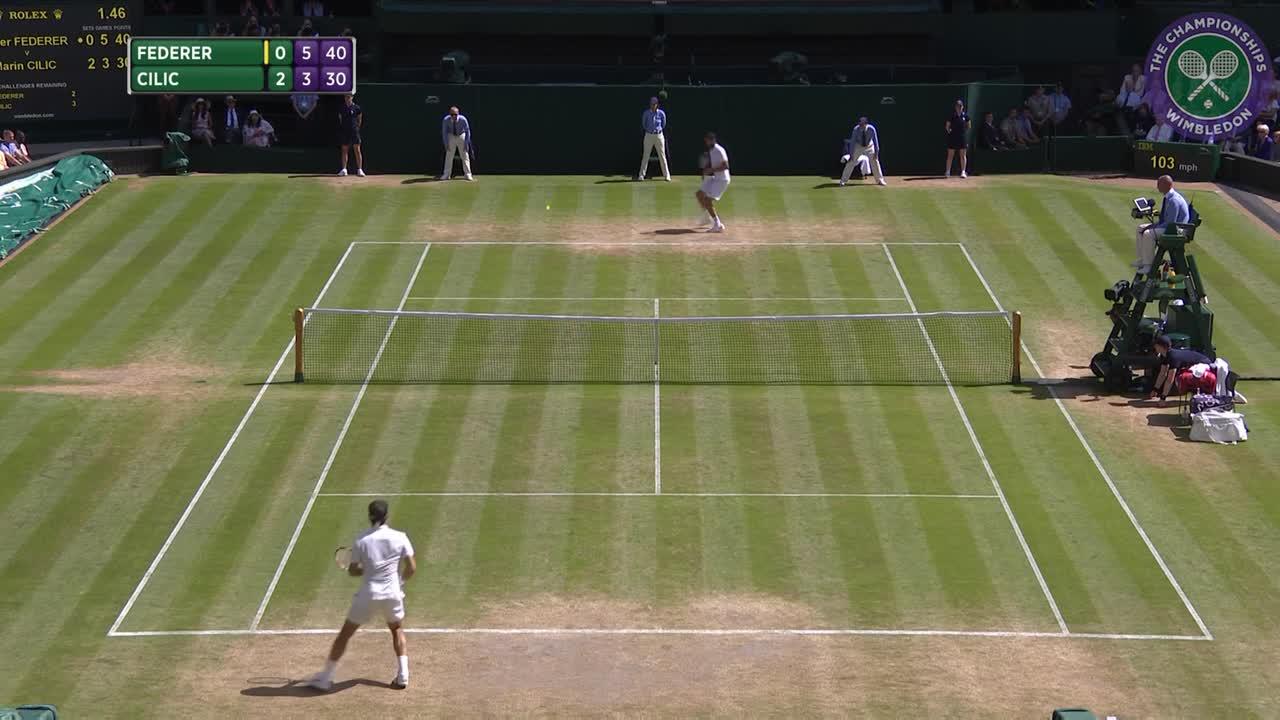 2016, Day 9 Highlights, Roger Federer vs Marin Cilic