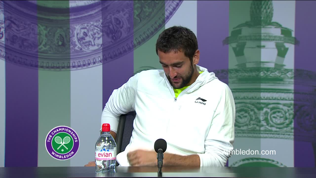 Marin Cilic quarter-final press conference
