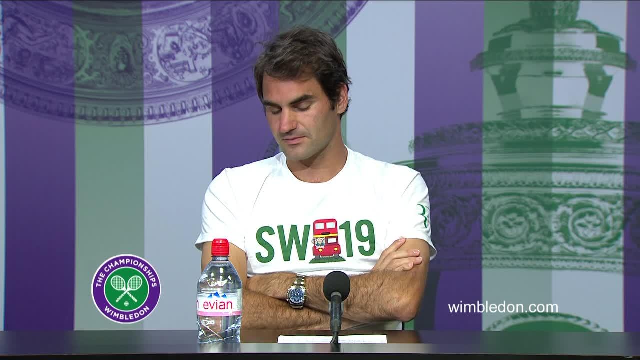 Roger Federer quarter-final press conference