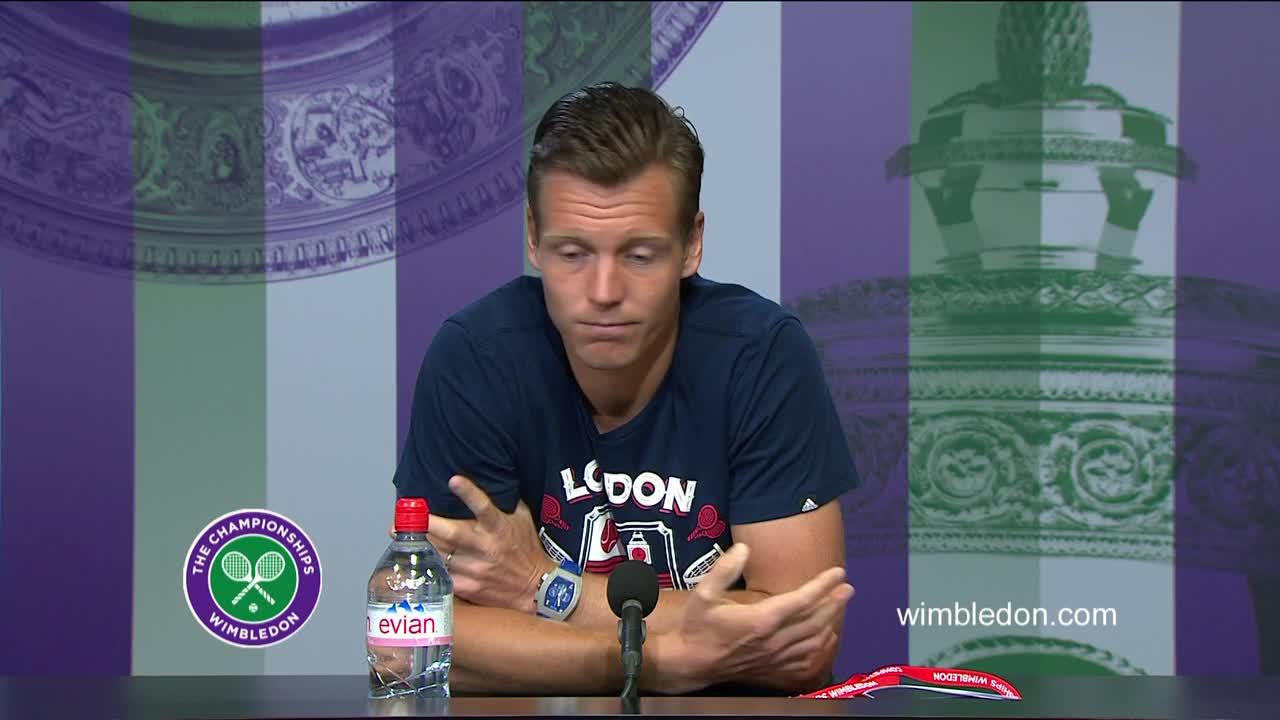 Tomas Berdych quarter-final press conference