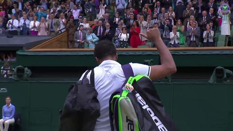 Centre Court bids farewell to Tsonga with standing ovation