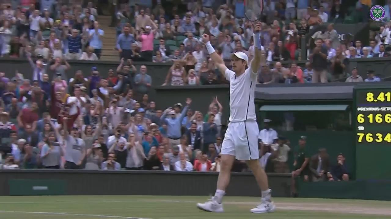Murray celebrates thrilling five-set win over Tsonga