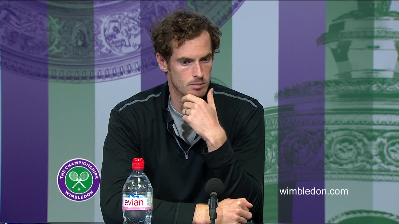 Andy Murray quarter-final press conference