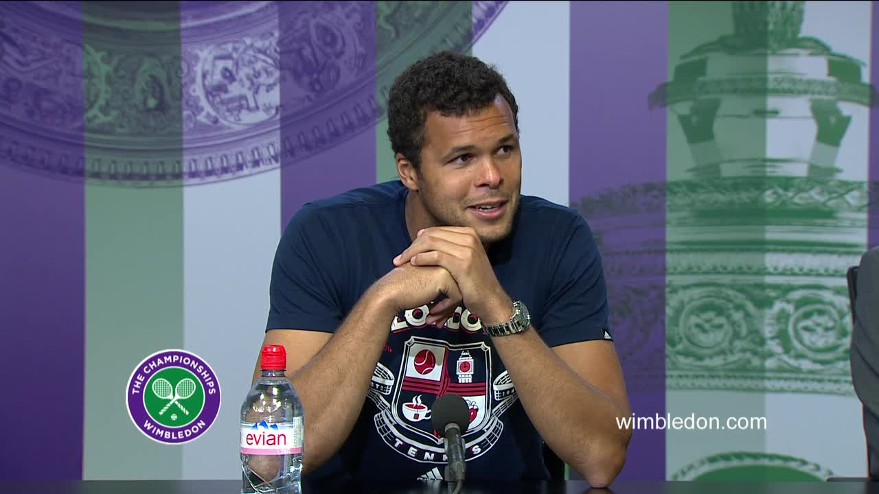 Jo-Wilfried Tsonga quarter-final press conference