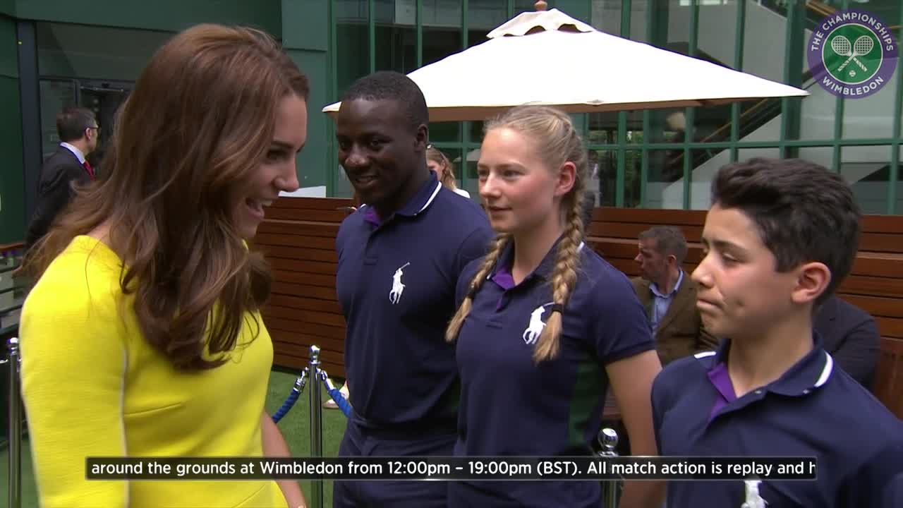 Duchess of Cambridge arrives at Wimbledon for Ladies' semi-finals day