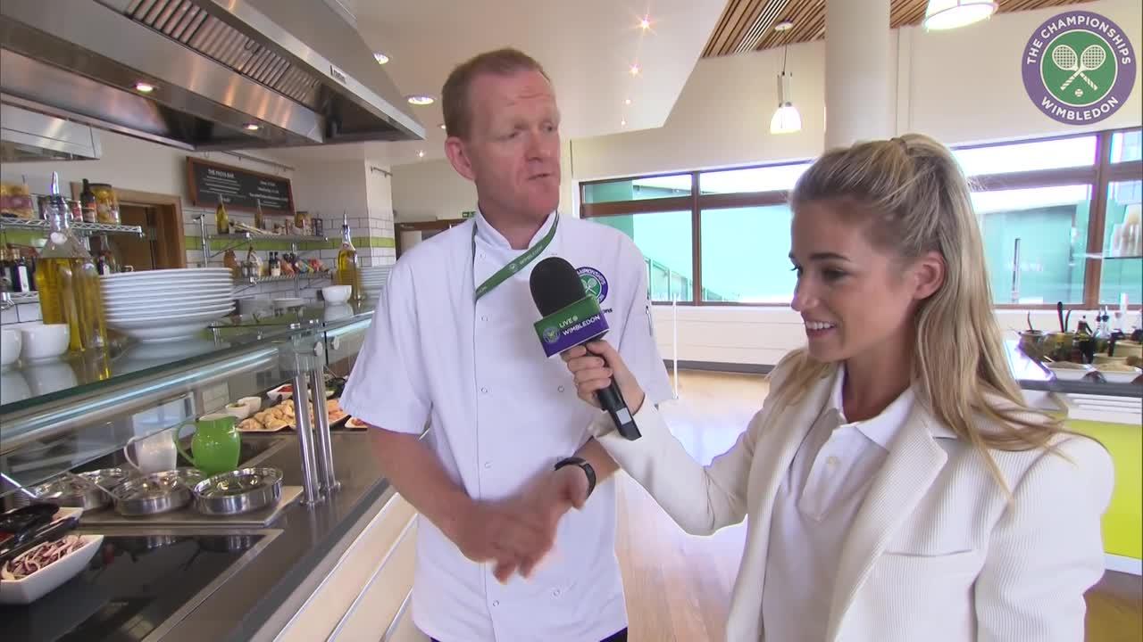 Take a sneak peek inside the players' restaurant at Wimbledon
