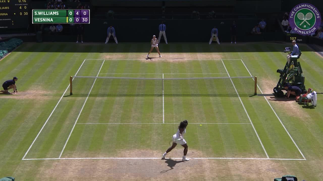 2016, Day 10 Highlights, Serena Williams vs Elena Vesnina