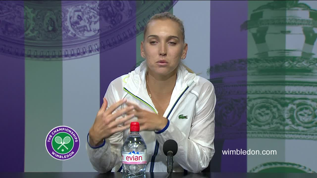 Elena Vesnina semi-final press conference