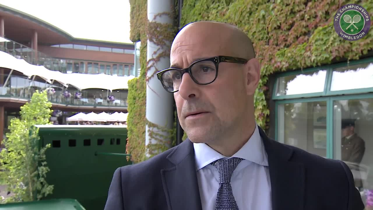 #wimblewatch with Stanley Tucci