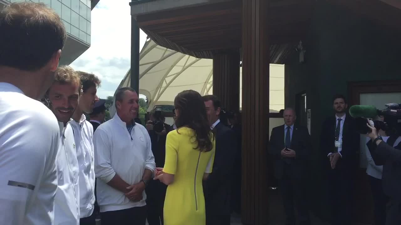 Smiles all round as Ivan Lendl meets the Duchess of Cambridge