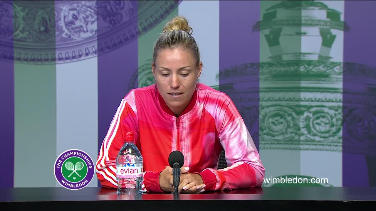 Angelique Kerber pre-final press conference