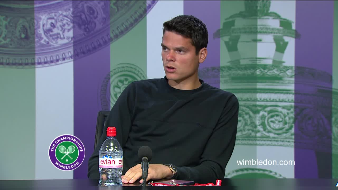 Milos Raonic semi-final press conference