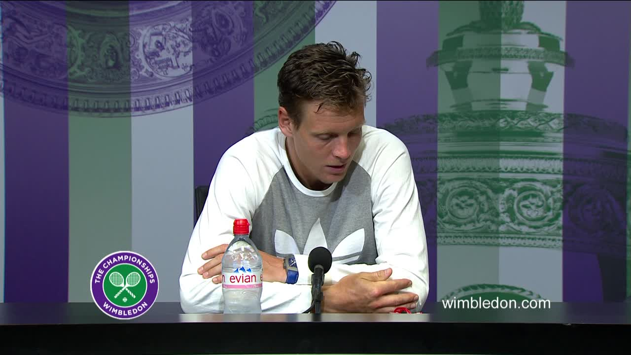 Tomas Berdych semi-final press conference