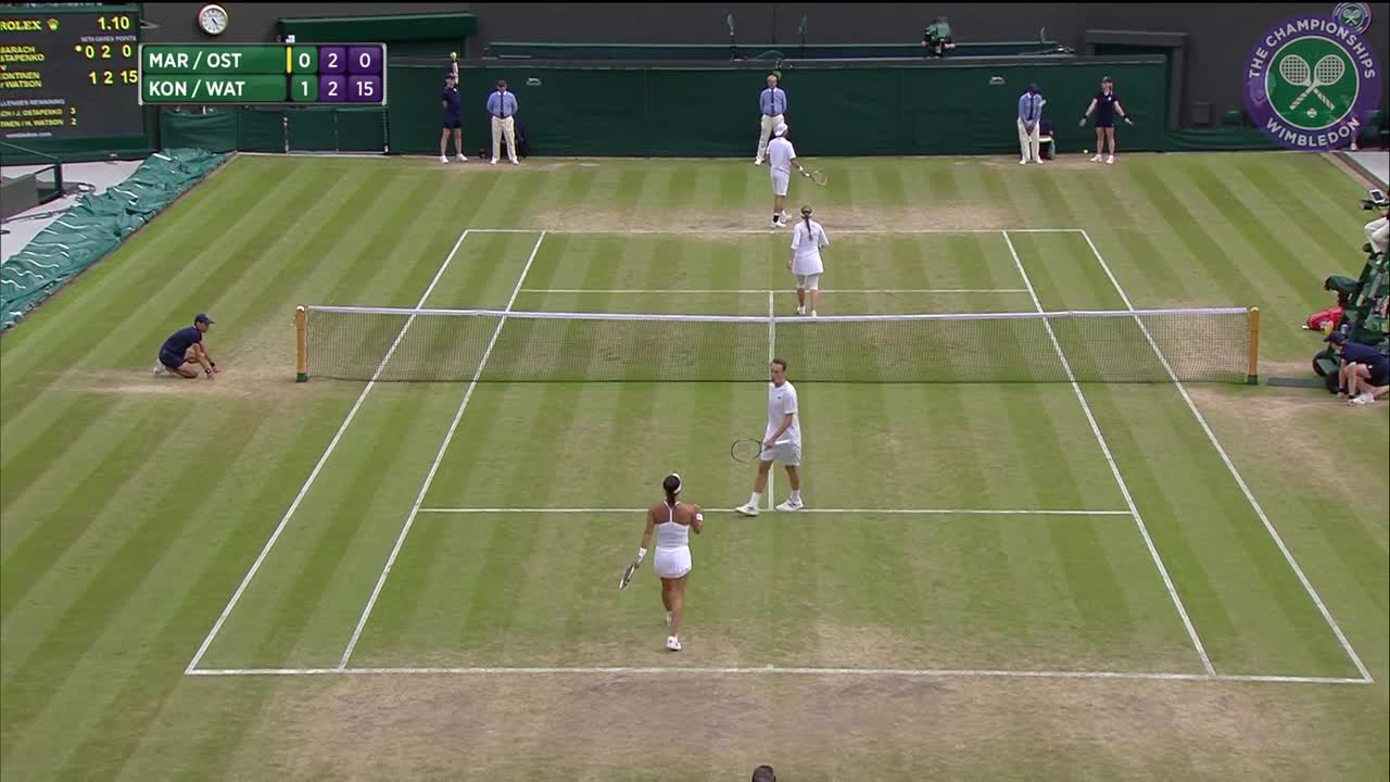 2016, Day 12 Highlights, Oliver Marach and Jelena Ostapenko vs Henri Kontinen and Heather Watson