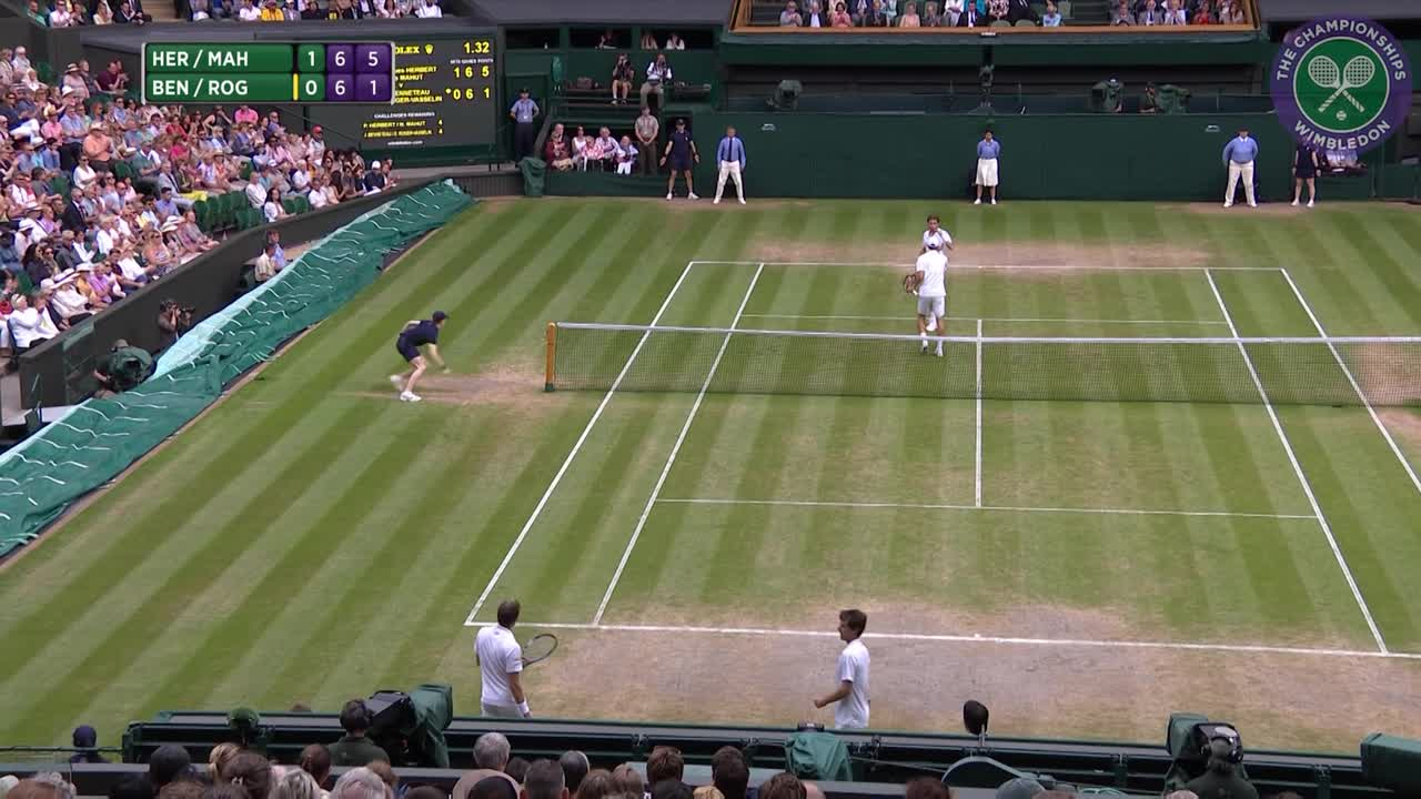 2016, Day 12 Highlights, Nicolas Mahut and Pierre-Hugues Herbert vs Julien Benneteau and Edouard Roger-Vasselin