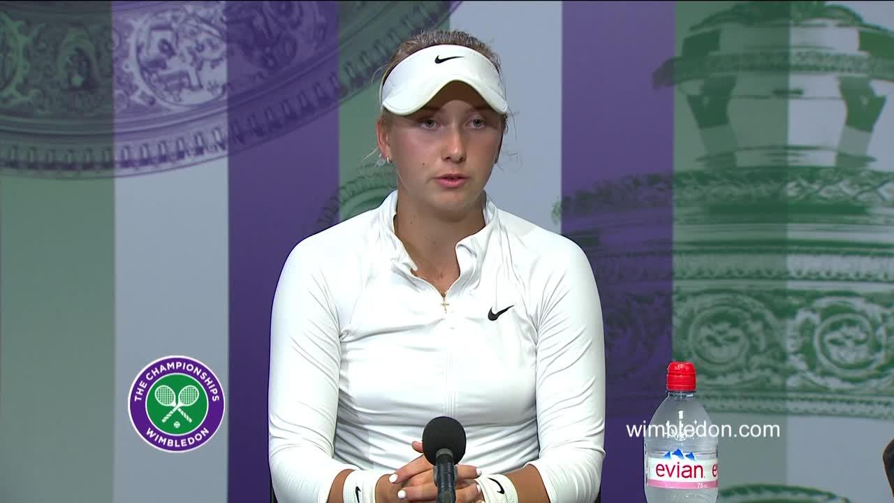 Anastasia Potapova girls' singles final press conference