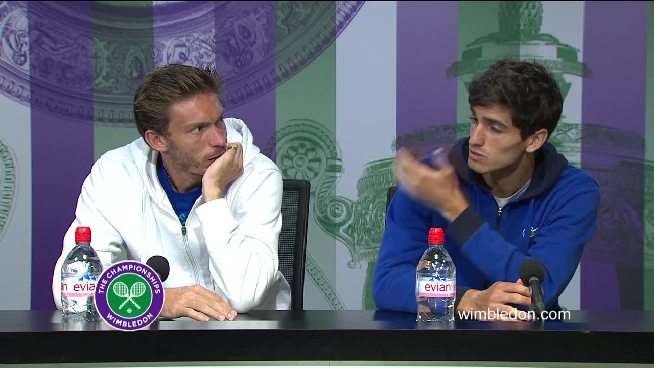Nicolas Mahut and Pierre-Hugues Herbert doubles final press conference