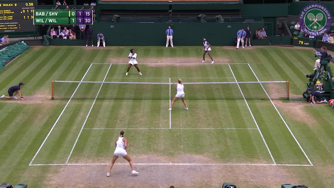 Williams Williams v Shvedova Babos Doubles Final Highlights