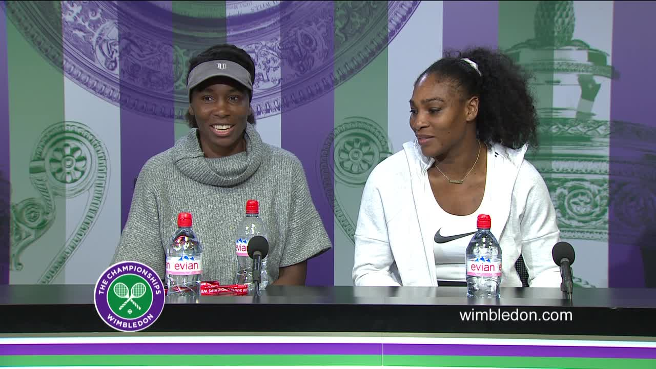 Venus Williams and Serena Williams Press Conference Doubles Final