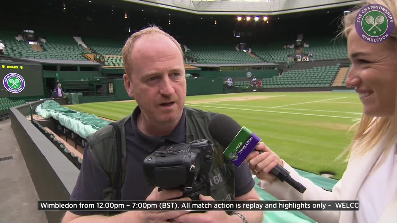 Daily Telegraph photographer Eddie Mulholland reveals tricks of the trade for getting the best Wimbledon pictures