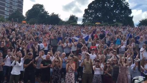 The Hill celebrates Andy Murray winning Wimbledon