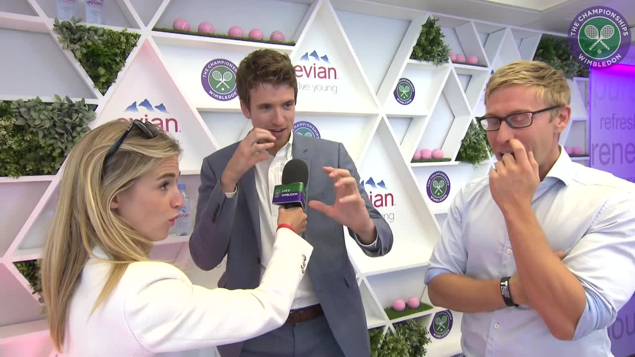 #wimblewatch with Greg James and Russell Howard