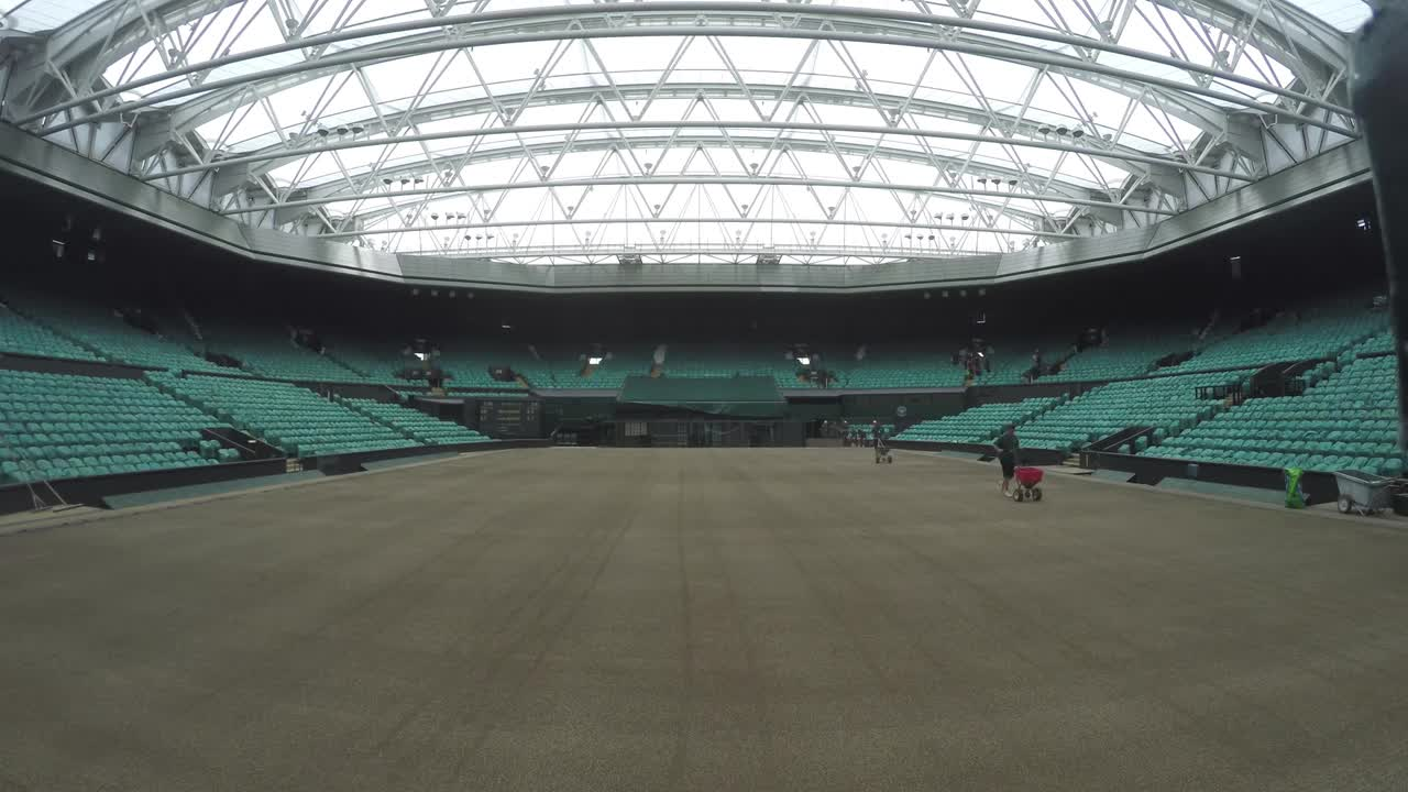 2017 Championship grass planted on Centre Court